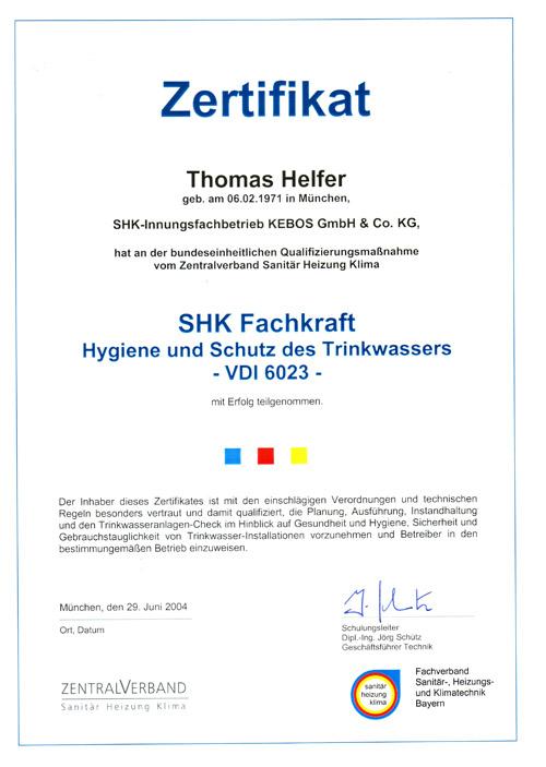 Qualifikationen der KEBOS GmbH