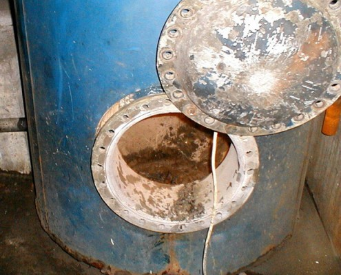 Boiler vor der Beschichtung